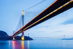 Suspension bridge in Hong Kong Royalty Free Stock Photos