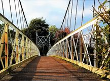 The suspension bridge. royalty free stock photography