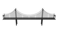 Suspension bridge illustration. Suspension bridge  on a white background Royalty Free Stock Image