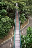 Suspension bridge in the Kuala Lumpur Eco Park royalty free stock image