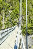 Suspension Bridge at La Manche Provincial Park Royalty Free Stock Photos