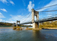 Suspension Bridge in Langeais, France. Stock Photo