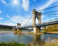 Suspension Bridge in Langeais, France. Stock Image
