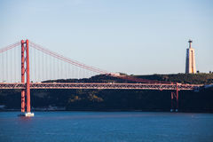 Suspension Bridge Lisbon Royalty Free Stock Photos