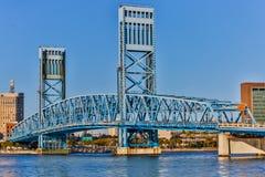 St. Johns River Suspension Bridge Stock Photos