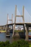 Suspension Bridge In Mobile Alabama stock photos