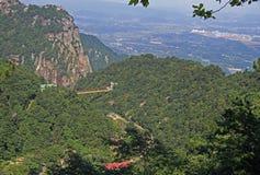 Suspension bridge in national park of mountain Lu Stock Photos