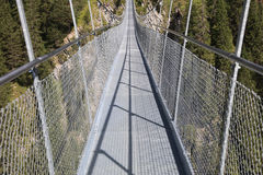 Suspension Bridge near Holzgau Stock Photo