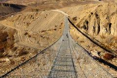 Suspension bridge, Nepal Stock Image