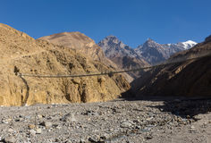 Suspension bridge, Nepal Royalty Free Stock Image