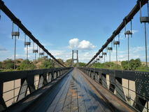 Suspension bridge in one hundred Royalty Free Stock Image