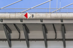 Suspension Bridge Over Ada Girder Detail - Belgrade - Serbia Royalty Free Stock Images