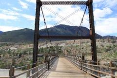 Suspension Bridge over Fraser River Royalty Free Stock Photos