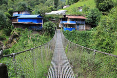Suspension bridge over Kali Gandaki river, Nepal Stock Image
