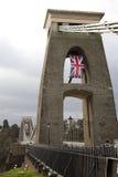 Suspension bridge over the river in Bristol, UK Stock Images