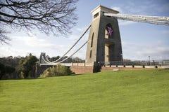 Suspension bridge over the river in Bristol, UK Royalty Free Stock Photos