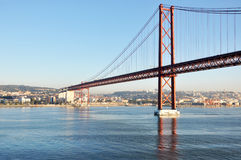 Suspension Bridge Lisbon Portugal Stock Images