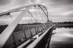 Suspension bridge over Tempe Town Lake Stock Image