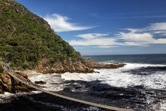 Suspension bridge over theStorms River Royalty Free Stock Image