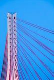 Suspension bridge over Wisla in Gdansk Poland. Royalty Free Stock Image