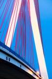 Suspension bridge over Wisla in Gdansk Poland. Stock Image
