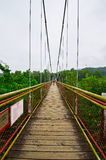 The suspension bridge. The photo was taken in Grand Canyon scenic spot Shenzhen city Guangdong province, China Royalty Free Stock Photo