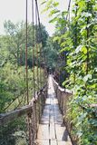 Suspension bridge. Photographed over the west morava river near the town of cacak serbia Royalty Free Stock Image