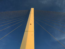 Suspension Bridge Pillar and Cables Royalty Free Stock Photo