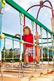 Suspension bridge on playground Royalty Free Stock Image