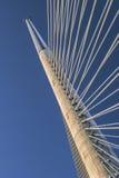 Bridge Over Ada Pylon Detail. The Belgrades suspension Bridge Over Ada - pylon top detail Royalty Free Stock Images