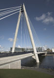 Suspension Bridge in Southport UK Royalty Free Stock Image