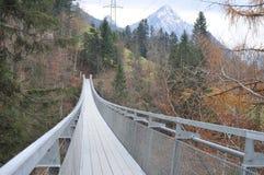 Suspension Bridge Spissibach Leissigen Stock Photos