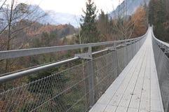 Suspension Bridge Spissibach Leissigen Stock Photo