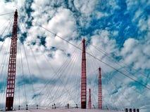 Suspension Bridge On A Sunny Day Stock Photo
