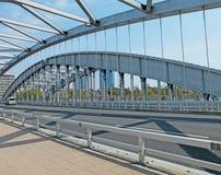 Suspension Bridge on Sunny Day Stock Image