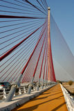 Suspension bridge, Talavera Stock Photos
