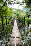 Suspension bridge in Taroko Gorge Stock Photo