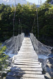 Suspension bridge in Torres del Paine National Park, Patagonia, Chile Royalty Free Stock Photo
