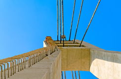 Suspension bridge tower Royalty Free Stock Image
