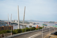 Suspension bridge in Vladivostok, Russia Royalty Free Stock Photos