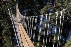 Suspension bridge in Wrightwood CA Royalty Free Stock Image