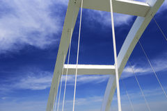 The suspension bridge Stock Photos