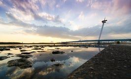 Suspension Bridges Of Kasairinkai Park, Tokyo, Japan Royalty Free Stock Photography