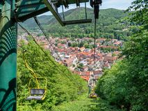 Free Suspension Cable Railway In Lauterberg, Harz Germany Royalty Free Stock Photo - 152724845