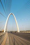 Suspension cable stayed bridge in xian stock photo