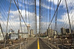 Suspension cables of the Brooklyn Bridge Royalty Free Stock Photos
