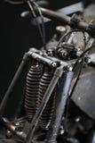 Suspension d'avant de moto de vintage Photo libre de droits