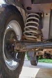 Suspension d'un véhicule tous terrains Photographie stock libre de droits