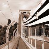suspension de clifton de passerelle Photo stock