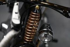 Suspension de moto Photographie stock
